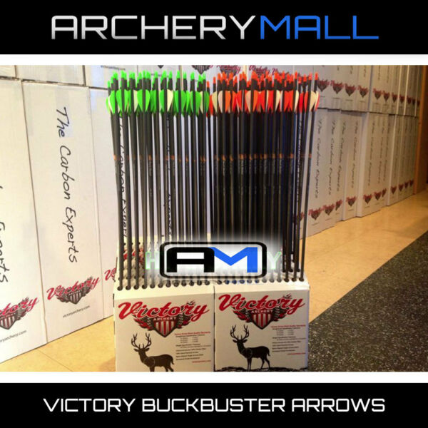 12 VICTORY Buck Buster carbon arrows 350 or 400 INSERTS amp; FREE CUTTING $69.99