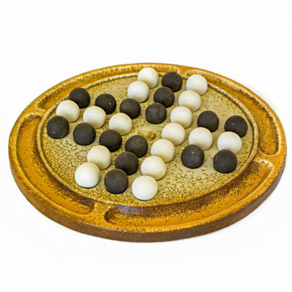 Solitaire Board Game Premium Decorative Handmade Ceramic Replica Set 12.6''