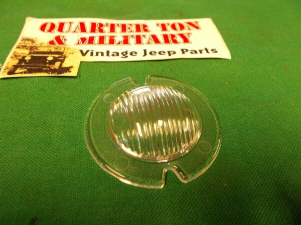 Parking Light Lens US Made Fit Willys CJ2A CJ3A early Wagon early Truck jeep