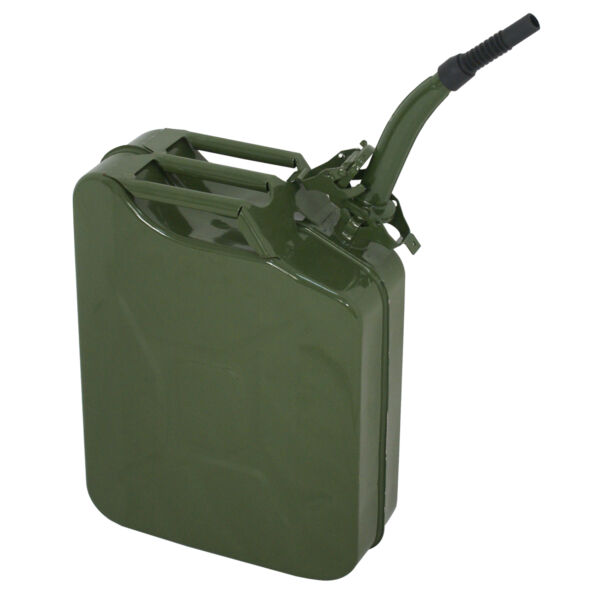 Jerry Can Oil Fuel Can Steel 5 Gal 20L Roadtrip Extension Spout Neck New $20.65