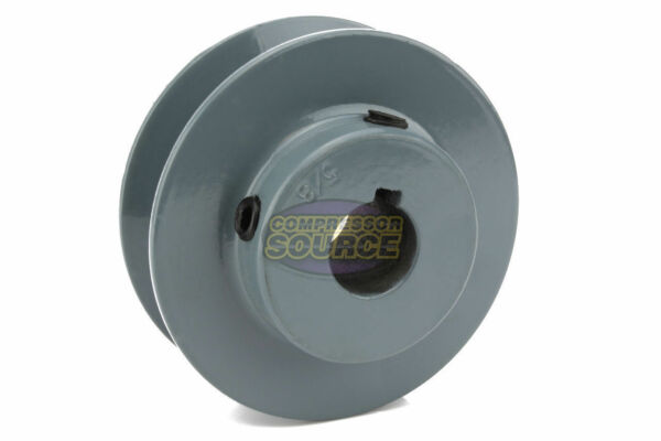 3.5quot; Cast Iron 5 8quot; Shaft Pulley Sheave Single 1 Groove V Style A Belt 4L New