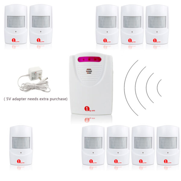 Wireless Driveway Alarm System Patrol Infrared Sensor Home Security