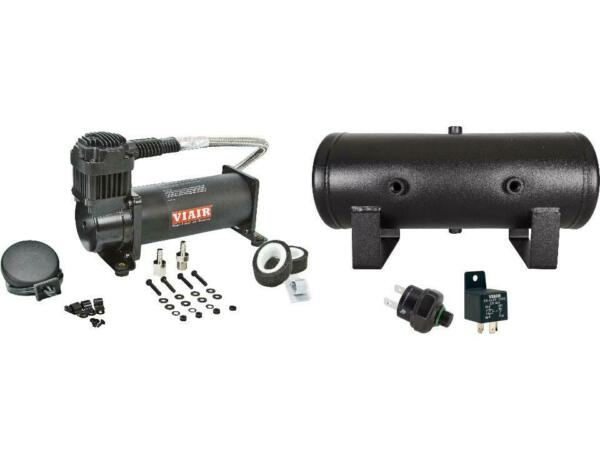 Viair 444 Black Compressor with 2 Gal Tank & Free 120 PSI Pressure Switch, Relay