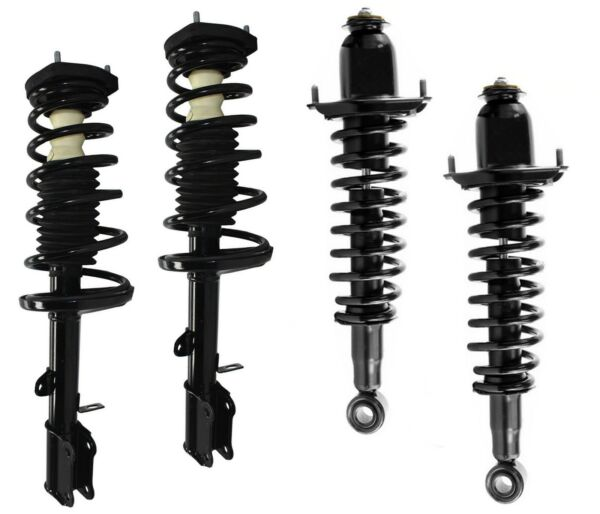 Full Set - 4 New Complete Struts With Springs Mounts Fit Matrix Vibe FWD