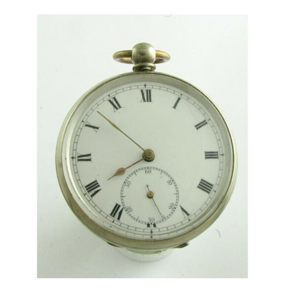 Superb Silver Cheltenham LEpine KW Watch 1860 & Albert Chain & Key