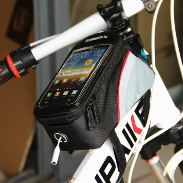 Cycling Bags Bicycle Frame Pannier Bike Bag for Cell Phone 5.5quot; Waterproof New $11.99