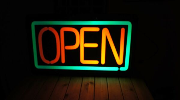 Electric OPEN Sign 23.75 X 13.75 X 3.5 OPEN SIGN ELECTRIC NOT NEON $90.00