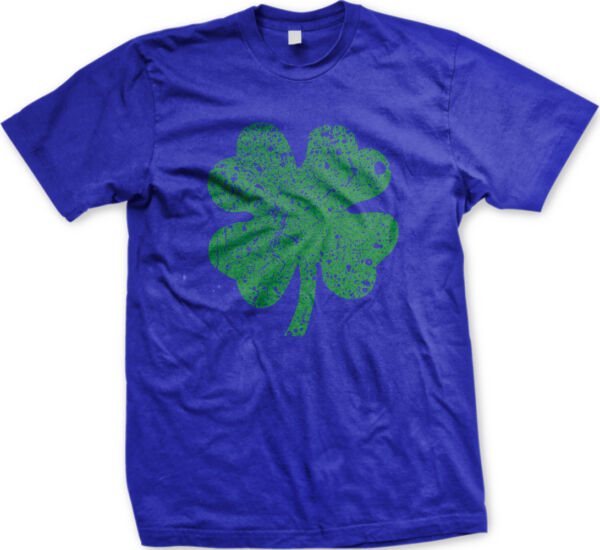 Four Leaf Clover Lucky Distressed Good Luck Looking Irish Pick IRE Men's T-Shirt