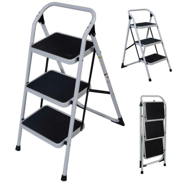 Protable 3 Step Ladder Folding Non Slip Safety Tread Industrial Hot High-quality