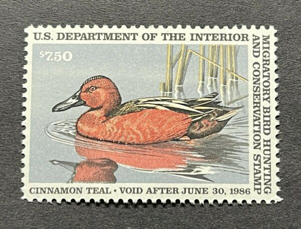 WTDstamps #RW52 1985 US Federal Duck Stamp Mint OG NH
