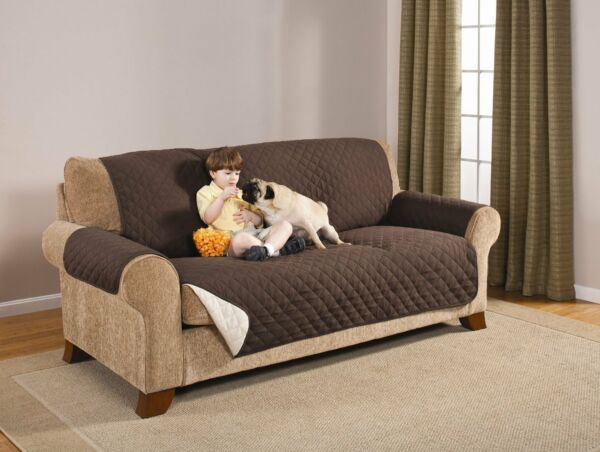 * PREMIUM* REVERSABLE PET DOG COUCH SOFA FURNITURE PROTECTOR COVER COFFEE TAN $29.99