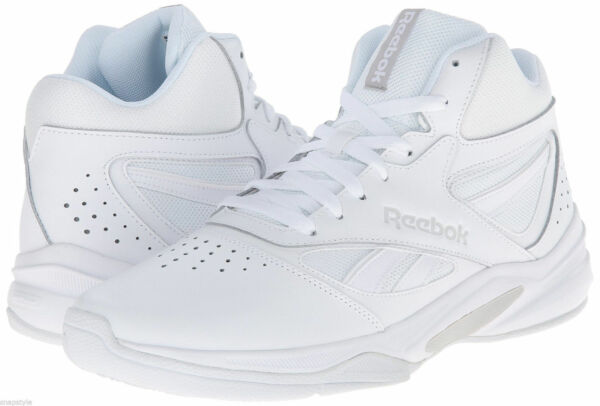 Reebok Mens Pro Heritage Hi Top Sneakers Leather All White Sizes New 7-15