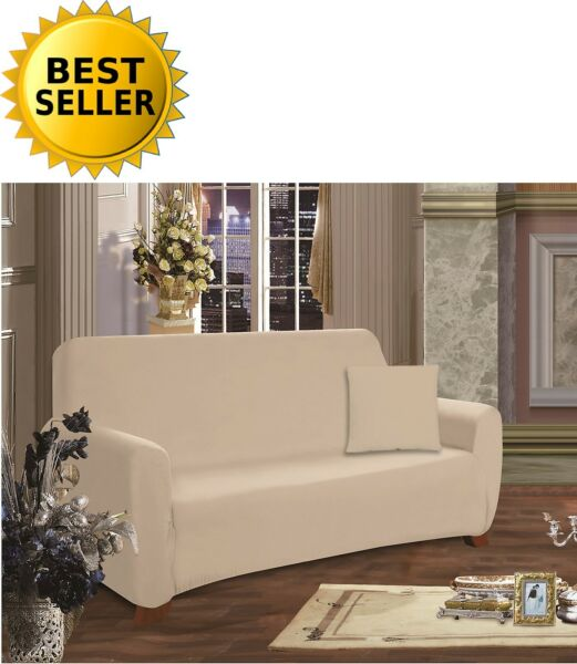 JERSEY STRETCH SLIPCOVER COUCH COVER FURNITURE SOFA ELEGANT COMFORt $39.99