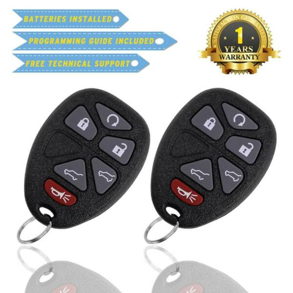 2 Keyless Entry Remote Control Car Key Fob for 2007-2014 TAHOE CHEVY OUC60270