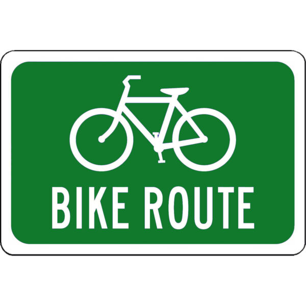 bike route beware of bikes 8quot; x 12quot; Aluminum Sign WILL NOT RUST MADE USA $11.89