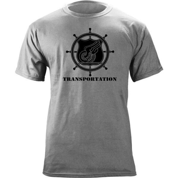 US Army Transportation Branch Insignia Ship#x27;s Wheel Veteran Graphic T Shirt