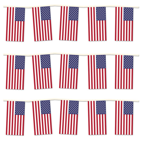 4th of July Independence Day Party Pack. 40m of USA Flag Bunting