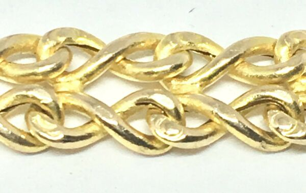 18KY GOLD BISMARK INFINITY PANTHER LINK BRACELET 7 INCHES LONG 7.75 MM WIDE