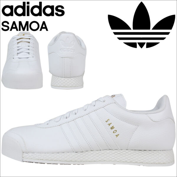 Adidas Originals SAMOA Retro White Sneakers Mens Trainers F37599 NEW
