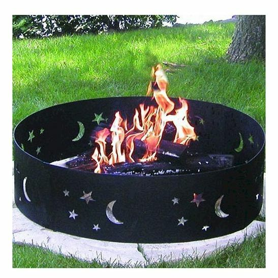 Portable Camping Fire Pit Outdoor Wood Burning Camp Firepit Backyard Metal Ring