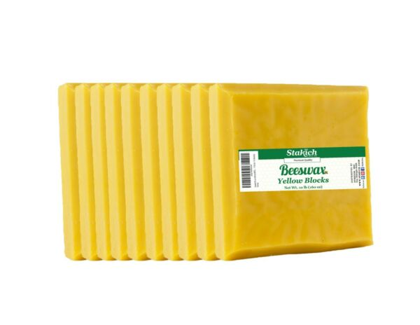 10 lb Square Beeswax Block Yellow Bee Wax Pure Natural Organically Produced SALE