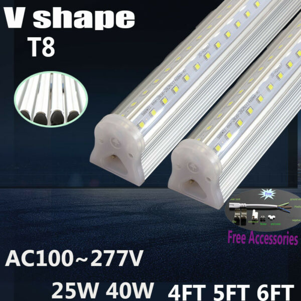 LED V shape 4FT 25W T8 LED Integrated Tube cooler Light with Tube accessories