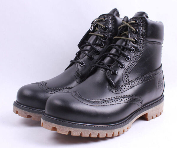 TIMBERLAND BLACK QUARTZ COLLECTION LMTD RELEASE ICON 6quot; WATERPROOF BROGUE BOOTS $112.89