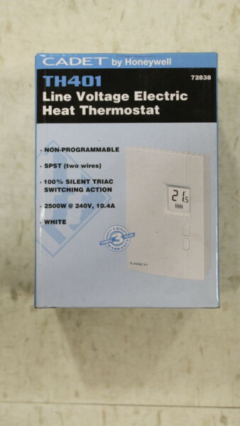 NEW 72838 HONEYWELL LINE VOLTAGE ELECTRIC HEAT THERMOSTAT NEW $45.23