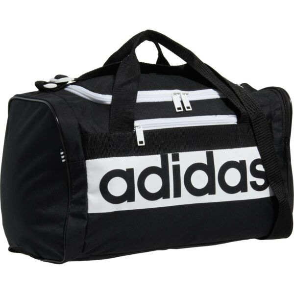Adidas CORE Diablo Duffel SMALL Bag BLACK GRAY WHITE LOGO ZIP TOP LIFETIME NEW $20.95