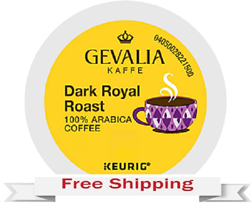 GEVALIA DARK ROYAL ROAST Keurig Coffee k-cups144 Count