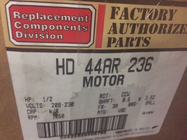 HD44AR236 Carrier Bryant Payne X13 Replacement Furnace Blower Motor 12 HP (NEW)