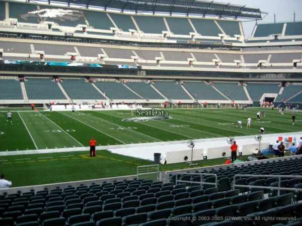 4 PHILADELPHIA EAGLES SBL PSL SEASON TICKETS RIGHTS sec 137 row 30 AISLE of 138