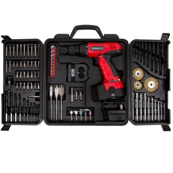 Drill Cordless 18V Set Kit Woodshop Workshop Home Driver 89pcs Set Power Tools