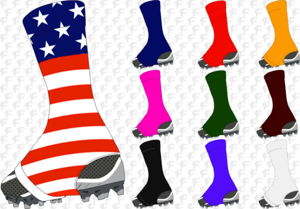 TCK Razur Football Soccer Spats Sock Wrap Lace Cleat Cover Adult Youth Kids