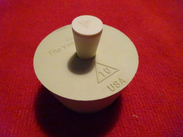 RUBBER BUNG #10 CORK FOR BETTER BOTTLE DRILLED FOR AIRLOCK w #000 PLUG STOPPER $6.47