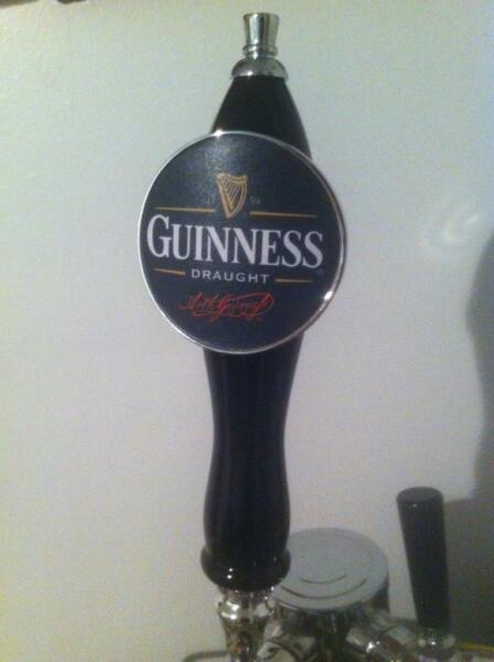 Brand New Never Used Pub Style Guinness beer tap handle US Standard Tap Threads