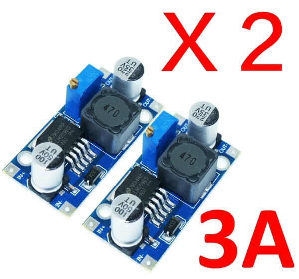 2X LM2596 DC-DC Adjustable Buck Converter Step Down Power Supply Module 1.23-30V
