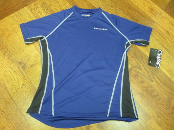 CANNONDALE WOMENS DOBLE TRACK NAVY CYCLING SHORT SLEEVE JERSEY BY GRIND EX SMALL $9.99