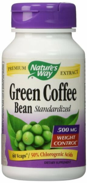 Nature's Way Green Coffee Bean Standardized Vcaps 500 mg 60 Ct (Pack of 12)