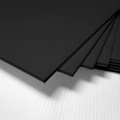 4 Pack 4mm Black 24quot; x 48quot; Corrugated Plastic Coroplast Sheets Sign ^