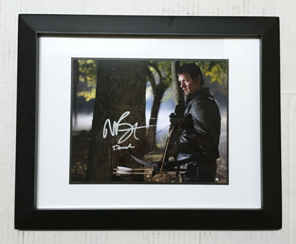 The Walking Dead NORMAN REEDUS Signed Autographed DARYL DIXON Framed Photo PROOF