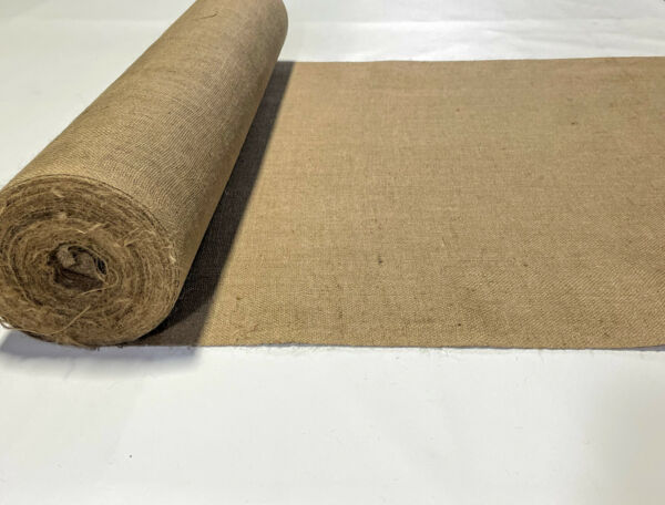 40quot; W Burlap 8 oz Natural Fiber Vintage 100% Jute Upholstery Fabric By The Yard