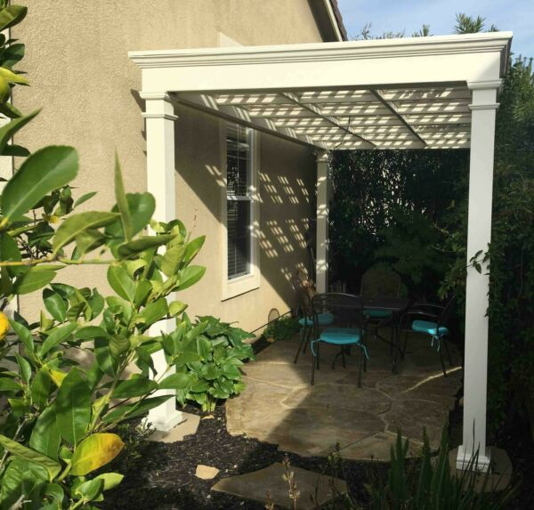 Garden Pergola with Coffered Trellis Ceiling Plans PLANS ONLY