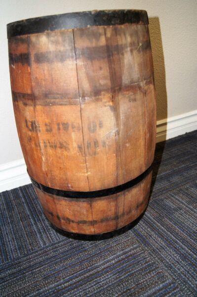 antique BARREL WOODEN barel WOOD barrel BOX CRATE