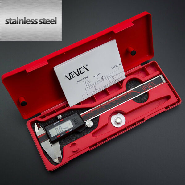 Digital Caliper Stainless Steel Electronic LCD Micrometer Measuring 0-6