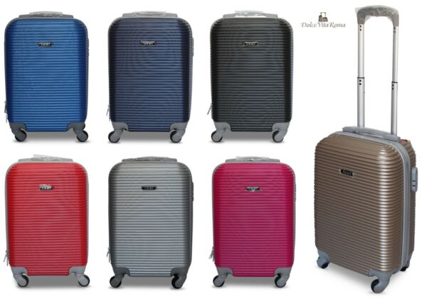 TROLLEY VALIGIA BAGAGLIO A MANO CABINA RYANAIR EASY JET 4 RUOTE LOW COST 2017