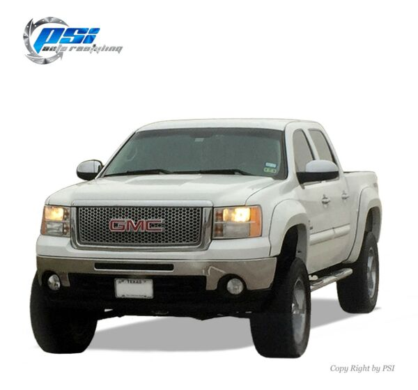 BLACK PAINTABLE Extension Fender Flares 07-13 GMC Sierra 1500 Short Bed 69.3