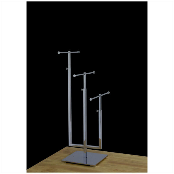 T-bar Adjustable Jewelry Stand Necklace Bracelet Tree Display 3 Tier