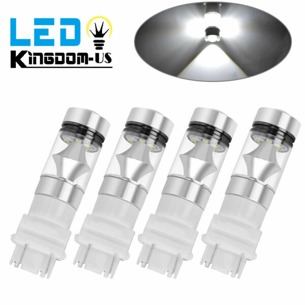 4X 3157 3156 White 20SMD 100W High Power LED Interior Tail Brake Light Bulbs