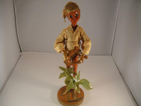 VINTAGE MID CENTURY ELF~PIXIE PLAYING A HARP LATE 60'S EARLY 70'S 13 12